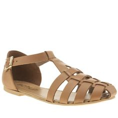 Schuh Tan Sugar Cube Womens Sandals One Sugar Cube or two? Add some sweetness to your summer shoe game as this tan leather profile arrives from schuh. The deconstructed fisherman sandal is complete with T-bar styling, a gold buckle fast http://www.MightGet.com/january-2017-13/schuh-tan-sugar-cube-womens-sandals.asp