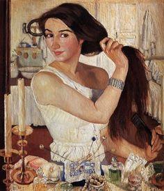 Self Portrait by Zinaida Serebriakova, 1909