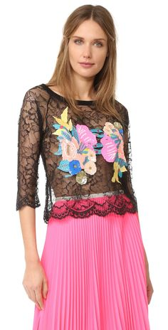 Loyd/Ford Long Sleeve Lace Top | SHOPBOP