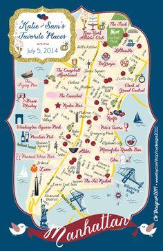 NYC Bride & Groom Favorite Things Large Format by cwdesigns2010