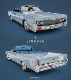 Lincoln Continental Convertible. The Raphael's car in 1966