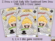 http://www.teacherspayteachers.com/Product/Cold-Lady-and-Snow-3-Roll-and-Cover-Games-FREE-1642644