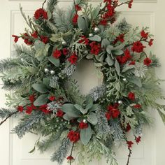 Christmas Wreath-Winter Wreath-Holiday Wreath-Elegant Holiday Wreath-Christmas Wedding-Designer Wreath-Elegant Holiday Wreath-Frosted Wreath