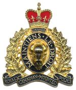 Royal Canadian Mounted Police - Wikipedia, the free encyclopedia Canadian Things, I Am Canadian, Canadian History, Fire Badge, Law Enforcement Badges, Canada Eh, Quebec City, Coat Of Arms, Police Officer