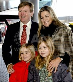 King Willem-Alexander, Queen Maxima, Princess Alexia and Princess Ariane attended the 56th edition of the equestrian event Jumping Amsterdam, on February 01, 2015, in Amsterdam