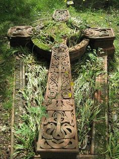 Celtic Cross. The older ones were on the ground. Reminds me of Arthurian Lit!