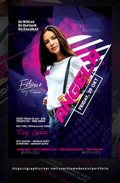 Guest Dj Party Flyer Template PSD - Easy to use - All text editable Flyer And Poster Design, Creative Poster Design, Ads Creative, Sports Graphic Design, Graphic Design Posters, Dj Party, Party Flyer, Social Media Banner, Social Media Design