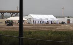 Tent city near El Paso that is housing immigrant children separated from their parents.