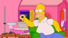 Homero adicto a los donuts