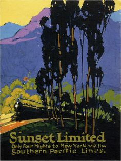 Sunset Limited - by Sam Hyde Harris/ Purple and Green