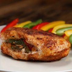 Healthy Fajita-Stuffed Chicken