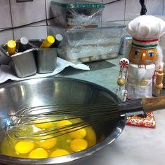 Just helping Noel scramble some #eggs! #CookingNutcracker #helpingout