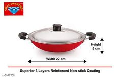 Pans Appachatti Pan With Lid  Material :  Aluminium  Size:  23 cm Thickness : 2.6 mm   Description :   It Has 1 Piece Of  Appachatti Pan  With Lid Country of Origin: India Sizes Available: Free Size   Catalog Rating: ★4 (6247)  Catalog Name: Trendy Essential Aluminium Cookware Vol 11 CatalogID_421669 C137-SC1595 Code: 653-3078706-738