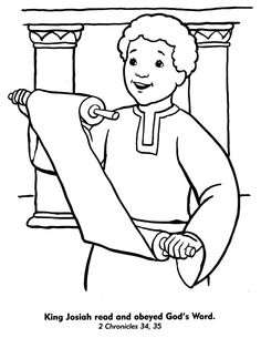 King Josiah find a Scroll Bible Craft for Sunday School