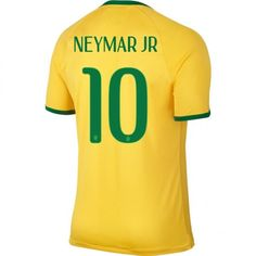 Brazil Home Soccer Jerseys 2014 World Cup Nike Neymar JR 10 cheap Nike Soccer Jerseys, Soccer Uniforms, Soccer Shoes, Football Shirts, Brazil World Cup, World Cup 2014, Fifa World Cup, Neymar Jr 2014, Nike Pas Cher
