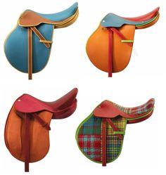 Plaid Hermes Saddles! <3 The blue….