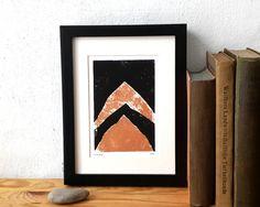 Linoprint Linolschnitt Kupfer original von UrbanSeaIsBatonRouge