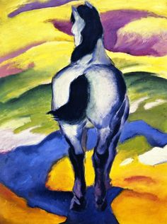 german-expressionists:  Franz Marc, Blue Horse II, 1911