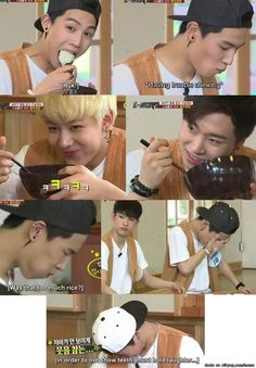 oh my god JB. You are really a monster in eating! WAHAHAHAHA #JB #GOT7