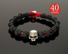 Mens Skull  Mens skull bracelet with big 15 mm skull. от GATURA