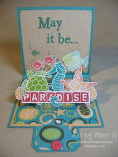"Annette's Creative Journey: Pop-up Slider Card with ""Footloose"""