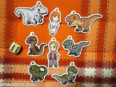 Jurassic World dinosaurs inspired mini charms by CriminalCrowShop