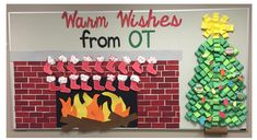 Stocking Christmas Holiday Bulletin Board.  Includes FREE Printable Template!
