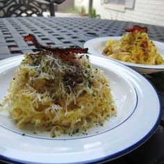 ThreeDietsOneDinner - Paleo Recipes to fit every diet - Paleo Weight Loss - Optimal Nutrition: SPAGHETTI SQUASH CARBONARA