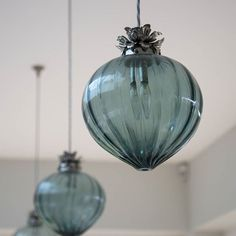 1493163158326 (640×640) Stiffkey Blue, Polished Nickel, Glass Shades, Metal Working, Christmas Bulbs, Bubbles, Arts And Crafts, Pendants, Vase