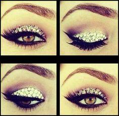 make up met steentjes - Google zoeken