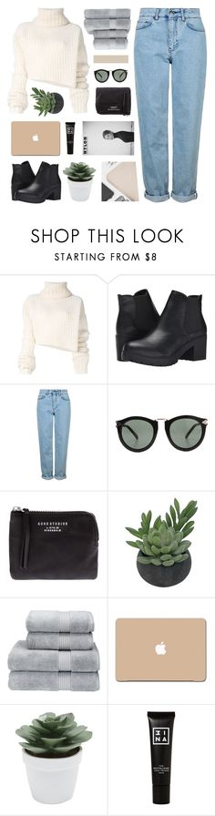 """""""//creme de la creme//"""" by lion-smile ❤ liked on Polyvore featuring Ann Demeulemeester, Steve Madden, Topshop, Karen Walker, Acne Studios, Threshold, Christy, 3M, M&Co and 3ina"""
