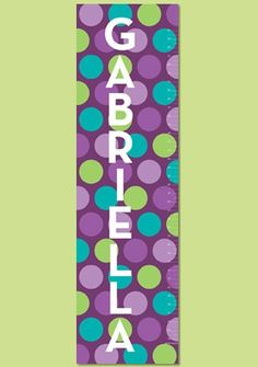 Personalized  Canvas Growth Chart  Cheeky Dot by PetiteLemon, $49.95...for a girl