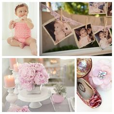 Baby's first birthday ideas. Make sure to photograph the little details of the day. (Love the little shoes!)