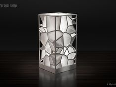 Voronoi lamp 3d printed