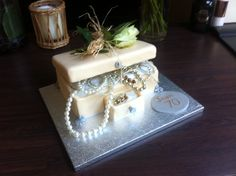 Jewellery box birthday cake for Jean the mother in law