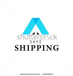 Vector flat logo template for logistics and delivery company. Shipping service insignia design. - stock vector