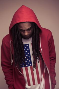 #dreadlocks red white blue