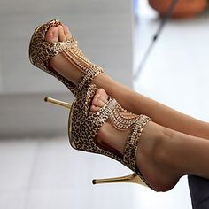 Zapatos de mujer - Tacón Stiletto - Tacones / Punta Abierta / Plataforma - Sandalias / Tacones - Boda / Casual / Fiesta y Noche - 2016 – $687.97