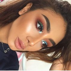 eye make up, blue and burgundy eyes, eyeliner, brown, contour, highlighter, soft lips, lipstick, foundation, mulotd