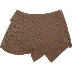 Pre-owned Roberto Cavalli Leather Mini-Skirt ($78) ❤ liked on Polyvore featuring skirts, mini skirts, khaki, women clothing skirts, real leather mini skirt, khaki leather skirt, roberto cavalli skirt, genuine leather skirt and khaki skirt