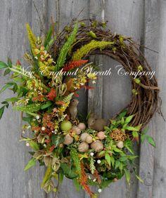 Woodland Meadow Bunny Wreath by NewEnglandWreath