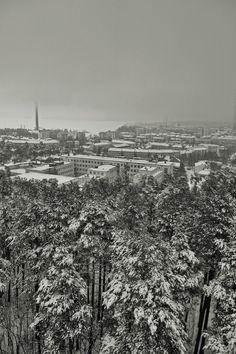 Tamperetta Pyynikin näkötornista kuvattuna City Photo
