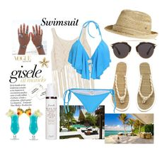 """""""Swimsuit 2"""" by elizabeth-xsomosmasqueamorr ❤ liked on Polyvore featuring Flora Bella, H&M, Fresh and Christian Dior"""