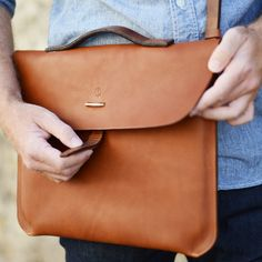 leather laptop bag #mensbag #messenger #bag