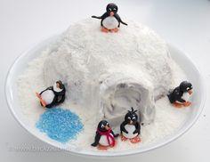 Iglutorte mit Pinguinen