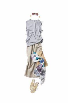 2018-07-09 やわらかニュートラル Capsule Outfits, Mode Outfits, Chic Outfits, Casual Summer Outfits, Simple Outfits, Spring Outfits, Fashion Pants, Fashion Outfits, Womens Fashion