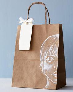 Lova's World: Kraft Paper Bags with White Illustrations