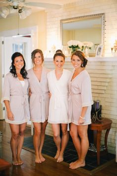 Bachelorette Party Bridesmaid Rompers Getting Ready Outfits For The Wedding By Loveophelia Bridesmaids Robes Gifts Pinterest