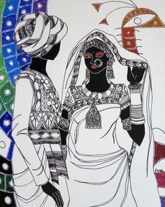 Ethnic Serendipity - VI by Anuradha Thakur on Artflute.com
