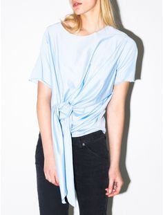 Back by Ann-Sofie Back knot t-shirt soft blue